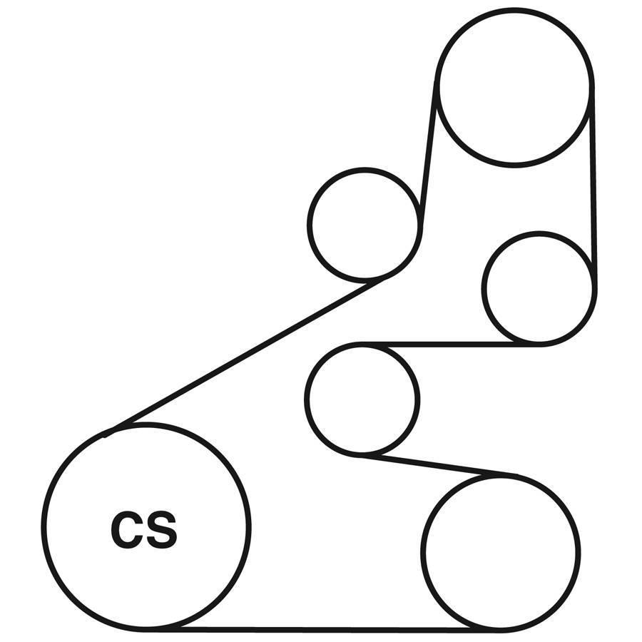 F on 2006 Honda Element Serpentine Belt Diagram