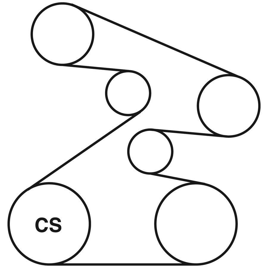 gates serpentine belt diagram