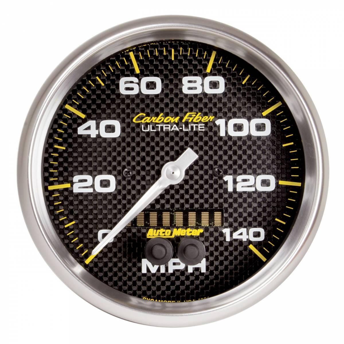 Auto Meter Auto Meter Carbon Fiber 5in  127mm  140 Mph In-dash Full Sweep Gps Speedometer