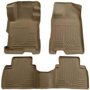 Husky Liners - 2006-2011 Honda Civic Sedan Husky Liners WeatherBeater Front and Rear Floor Liners - Tan