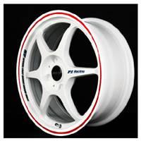 Buddy Club - Buddy Club P1 Racing SF Challenge Wheels 17X7.0 4X100 ET42 White/Red (Set Of 4)