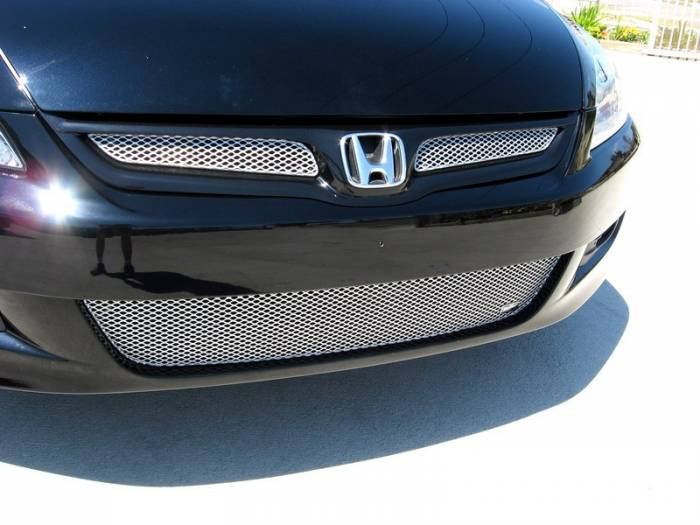 Grillcraft - 2006-2007 Honda Accord Coupe Grillcraft MX Series 3pc Lower Grille