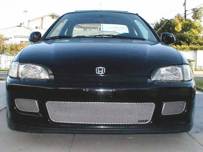 Grillcraft - 1992-1995 Honda Civic (Exc. Sedan) Grillcraft MX Series 3pc Lower Grille