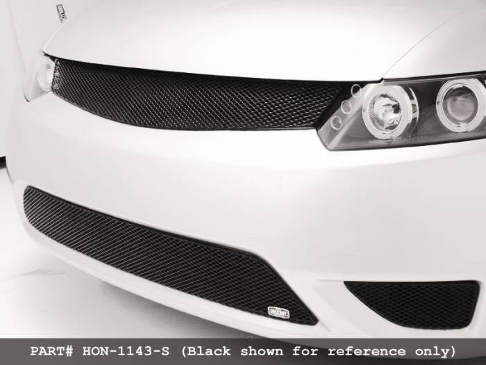 Grillcraft - 2006-2008 Honda Civic Si Coupe Grillcraft MX Series 3pc Kit Lower Grille