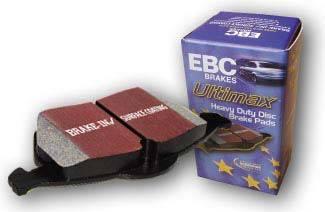 EBC Brakes - 2002-2005 Honda Civic EBC Ultimax Front Brake Pads