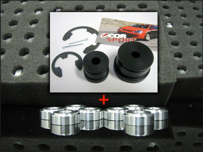 CorSport - 2002-2005 Honda Civic Si CorSport Aluminum Shifter Bushings Package
