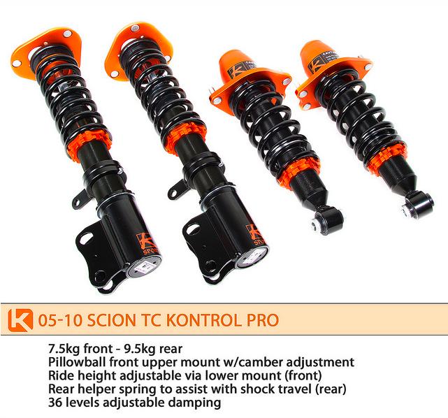 K Sport - 2005-2010 Scion tC Ksport Kontrol Pro Damper System
