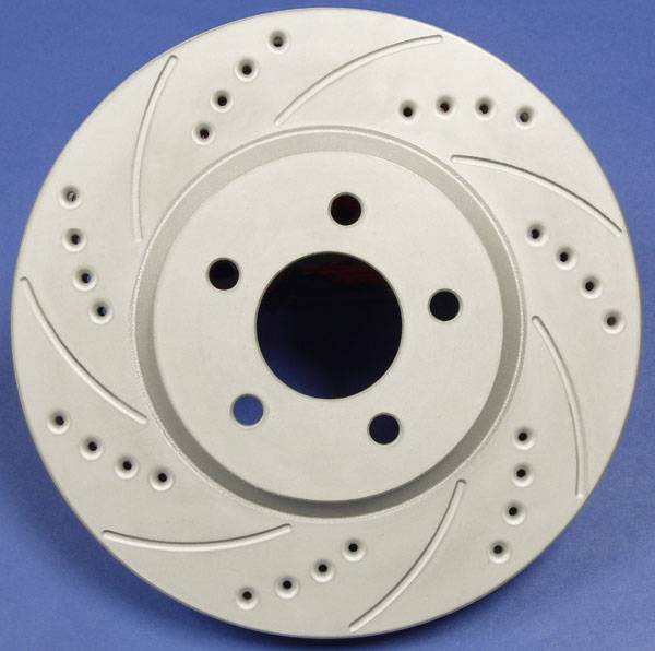 SP Performance - 2000-2005 Mitsubishi Eclipse SP Performance Rear Drilled And Slotted Brake Rotors ZRC Finish (2)