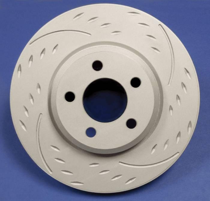 SP Performance - 2006-2011 Honda Civic SP Performance Rear Diamond Slot Brake Rotors ZRC Finish (2)