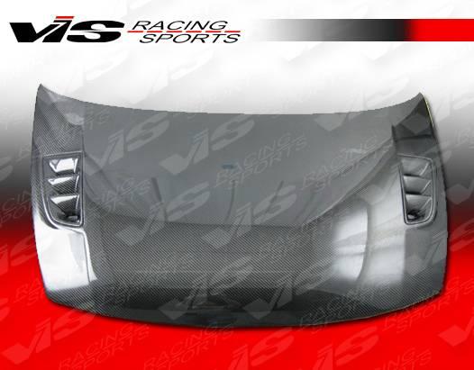 2006-2011 Honda Civic JDM 4dr VIS RR Style Carbon Fiber Hood