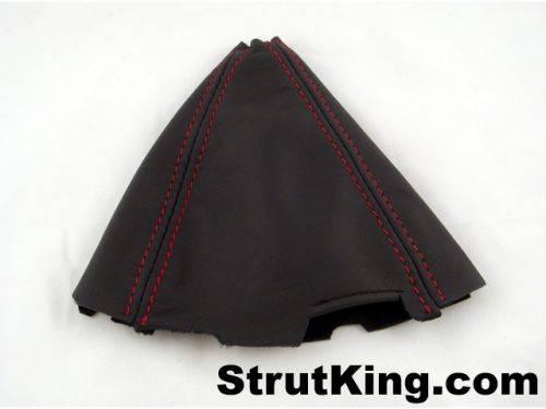 Strut King - 2006-2011 Honda Civic Strut King Leather Shift Boot (Red Stitching)