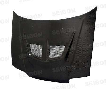 Seibon - 1988-1991 Honda Civic HB and CRX Seibon Carbon Fiber Hood - EVO Style