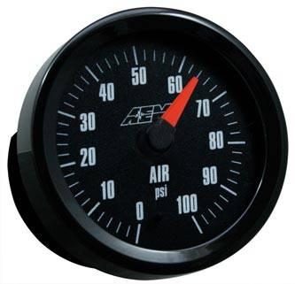 AEM - AEM Air Pressure Gauge 0-100PSI with Analog Face