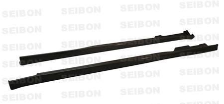 Seibon - 1996-2000 Honda Civic Coupe & HB Seibon Carbon Fiber Side Skirts - TR Style