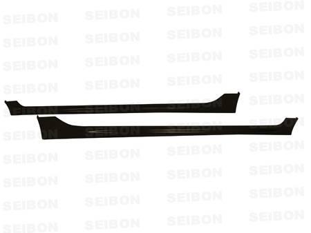 Seibon - 2007-2011 Honda Civic Sedan Seibon Carbon Fiber Side Skirts (Mugen Style)