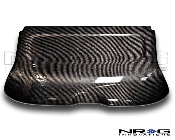 NRG Innovations - 2002-2005 Honda Civic Si NRG Innovations Black Carbon Fiber Interior Deck Lid