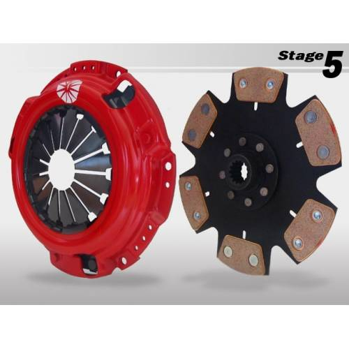 Action Clutch - 2002-2006 Acura RSX Type-S Action Clutch Stage 5 2MS (Iron Buttons, 6-Puck Sprung) Incl. Dual HD Pressure Plate+Bearing Kit