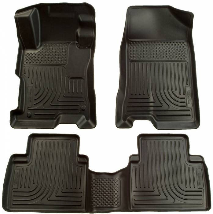 Husky Liners - 2006-2011 Honda Civic Sedan Husky Liners WeatherBeater Front and Rear Floor Liners - Black