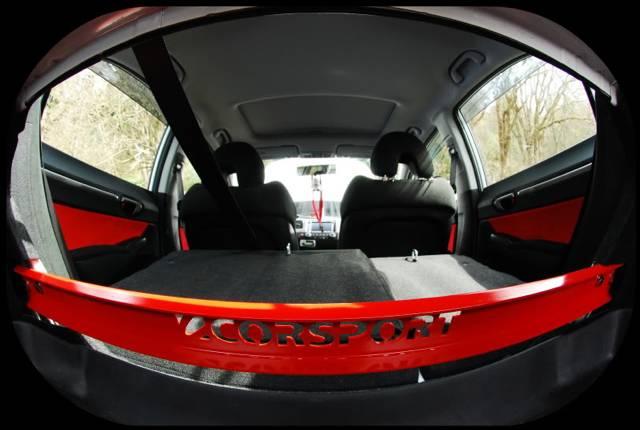 CorSport - 2006-2011 Honda Civic CorSport In-Trunk Rear C-Pillar Brace - Black
