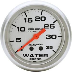 "Auto Meter - Auto Meter Ultra-Lite 2 5/8"" Mechanical Water Pressure - 35 PSI"