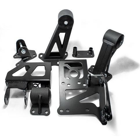 Innovative - 1994-2001 Acura Integra Innovative Conversion Engine Mount Kit, Steel, black, 75A BLK, Bushing