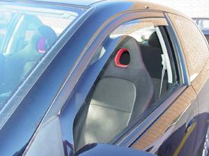 WeatherTech - 2002-2005 Honda Civic Si WeatherTech Front Side Window Deflectors (Light)