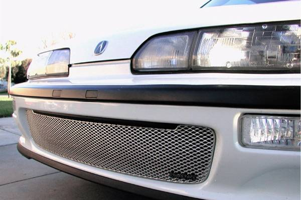 Grillcraft - 1992-1993 Acura Integra Grillcraft MX Series Lower Grille (Silver)