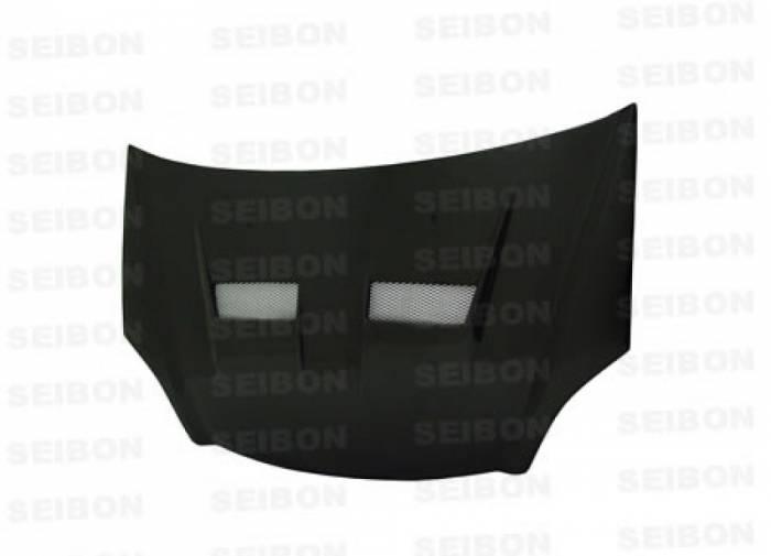 Seibon - 2002-2005 Honda Civic Si Seibon Carbon Fiber Hood - XT Style