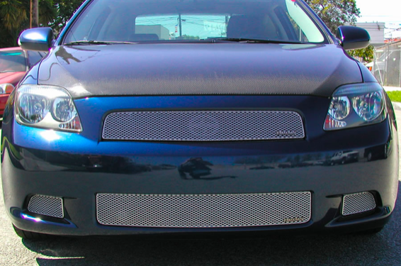 Grillcraft - 2005-2010 Scion tC Grillcraft MX Series Lower Grille (Silver)