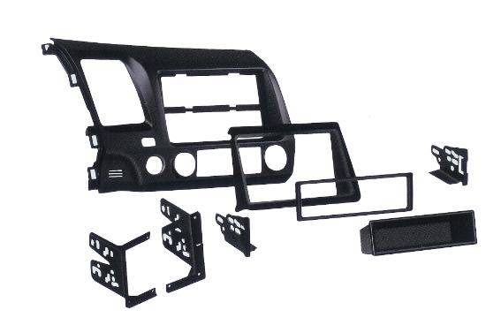 CorSport - 2006-2011 Honda Civic CorSport Single and Double Din Dash Kit - Black