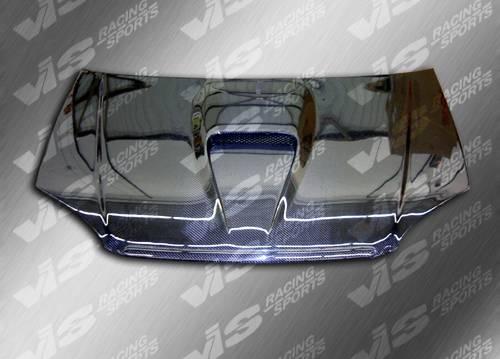 1999-2000 Honda Civic VIS Carbon Fiber Hood G-Force Style