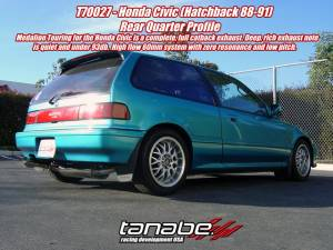 Tanabe - 1988-1991 Honda Civic HB Tanabe Medallion Touring Catback Exhaust - Image 2