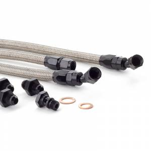 Hybrid Racing - Hybrid Racing Fuel Line Kit for K-swaps - Stainless Line, Black Fittings - Image 4